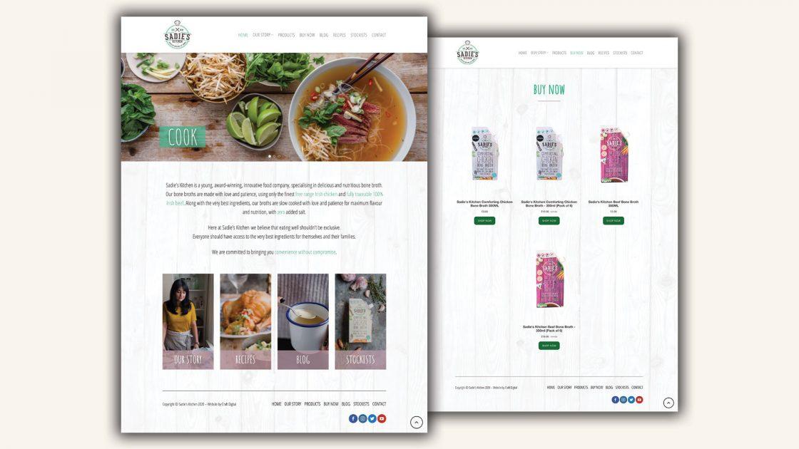 Sadies Kitchen-Website design and development wordpress