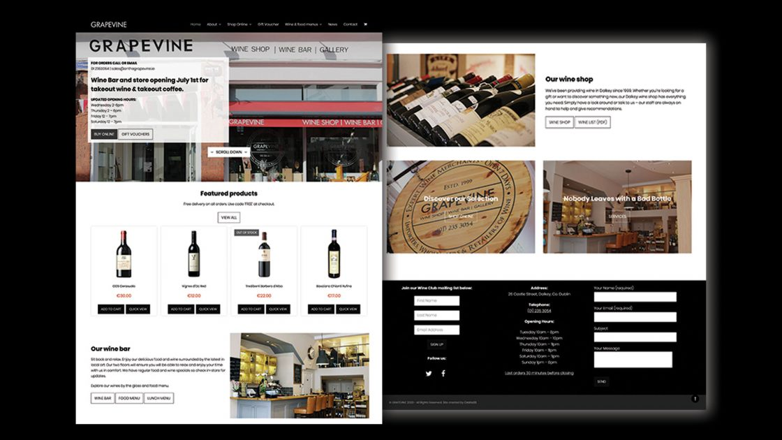 Grapevine Wine Shop Website Design and Development eCommerce